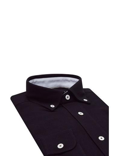 D'S Damat Regular Fit Armürlü Gömlek Beyaz